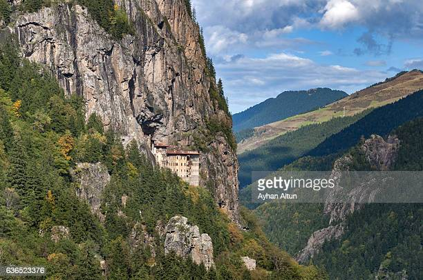 the sumela monastery,trabzon,turkey - trabzon stock photos and pictures