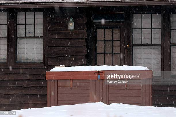 The summer cottage of Connecticut Gov John Rowland is seen February 3 2004 on Bantam Lake in Litchfield Connecticut A select state congressional...