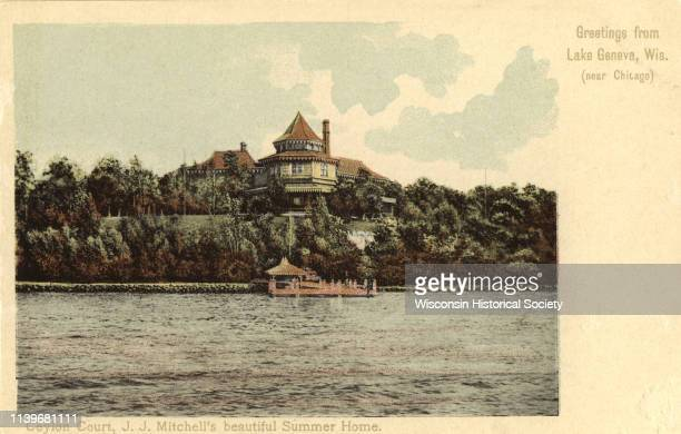 The summer home of JJ Mitchell formally known as Ceylon Court Lake Geneva Wisconsin 1915