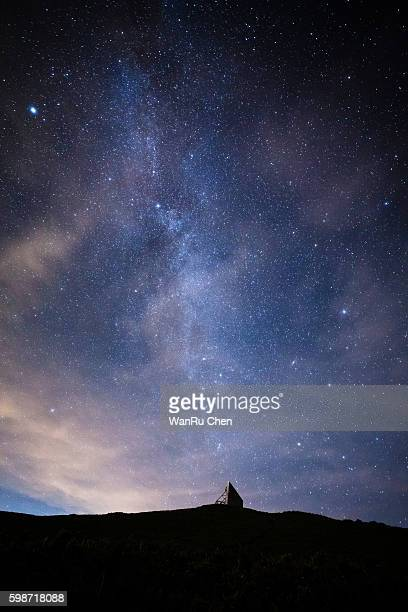 The summer Milky Way rises over the Hehuan Mountain