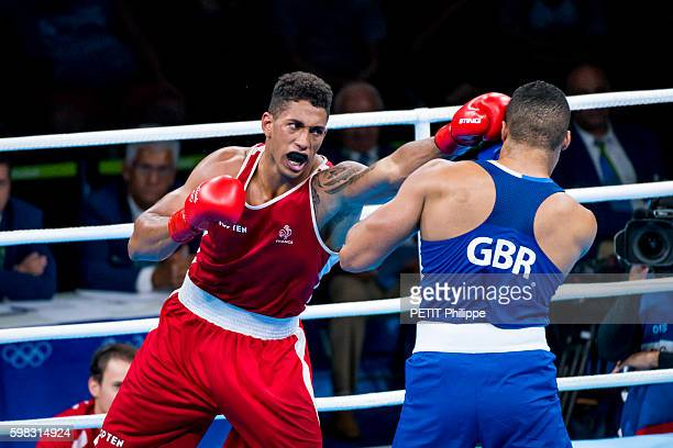 The summer Olympic Games in Rio 2016 the french fighter Tony Yoka during the final against the british Joe Joyce on August 21 2016