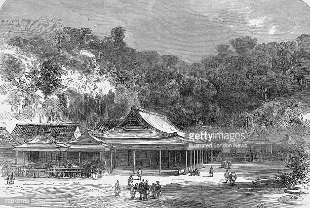 The summer palace of the daimyo of the Satsuma Han in southern Japan circa 1867 Original publication Illustrated London News pub 2nd February 1867