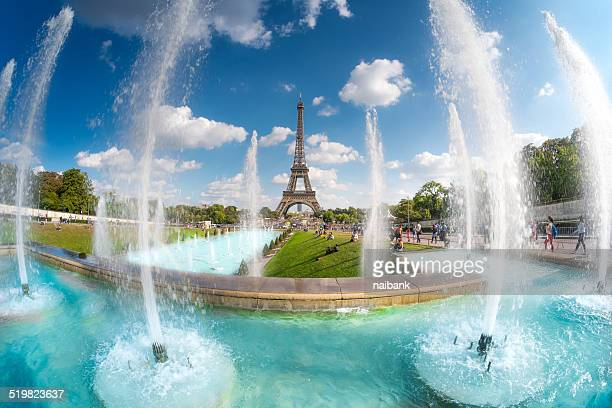 The summer Paris with Eiffel Tower