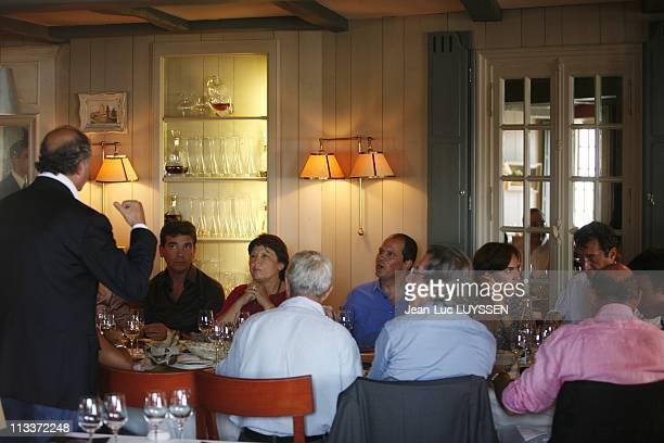 The Summer University Of Socialist Party In La Rochelle France On August 30 2008 Laurent Fabius Arnaud Montebourg Martine Aubry JeanChristophe...