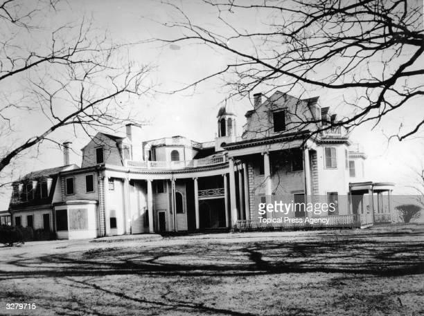 The 'Summer White House' of President Calvin Coolidge 'White Court' in Swampscott Massachusetts on the north shore near Boston Calvin John Coolidge...