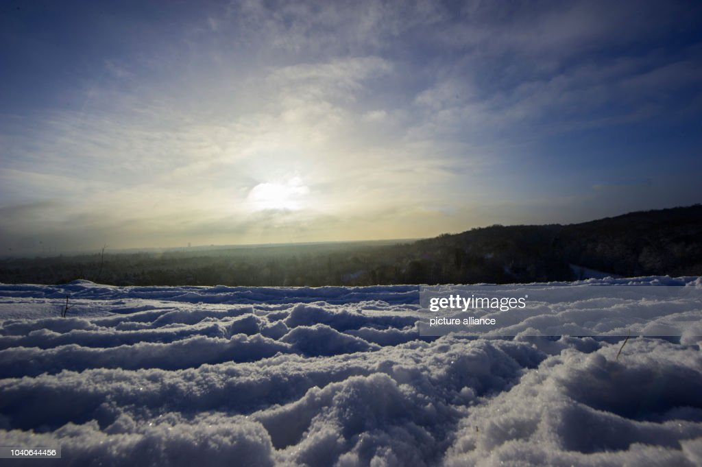 The sun and an almost clear blue sky are visible from the Teufelsberg in  Berlin, - Winter In Berlin Pictures Getty Images