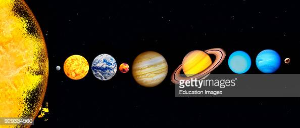 The Sun and Planets of our Solar System Including Pluto ...