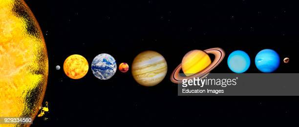 The Sun and Planets of our Solar System Including Pluto