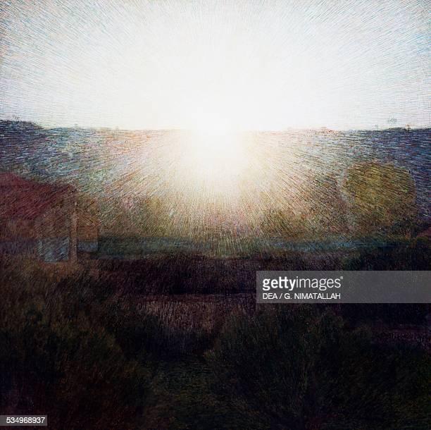 The Sun by Giuseppe Pellizza da Volpedo oil on canvas5x1505 cm Italy 20th century Rome Galleria Nazionale D'Arte Moderna