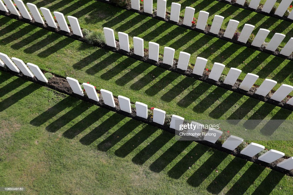 WW1 Battle Fields 100 Years On : News Photo
