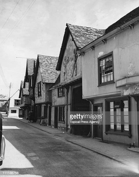 The Sun Inn and ancient building in Church Street part of which belongs to the 14th century and 15th century August 1948 In 1647 it was the...