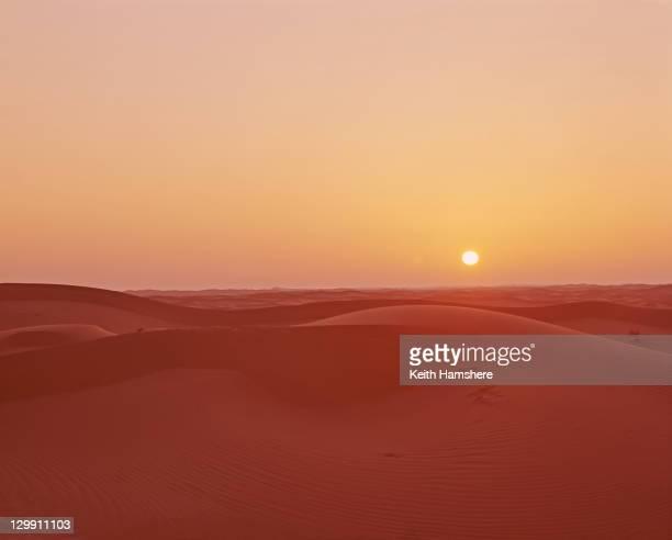 The sun low on the horizon in the Algerian desert 1973