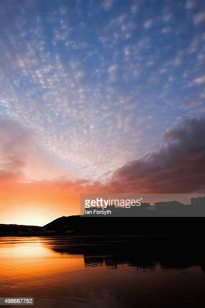 The sun rises during a winter sunrise on November 25 2015 in SaltburnbytheSea England After a mild week the wintery weather is due to return over the...