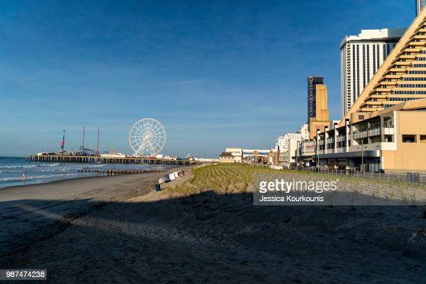 The sun rises on June 29 2018 in Atlantic City New Jersey Two new casinos opened this week in the seaside resort as residents seek an economic upswing