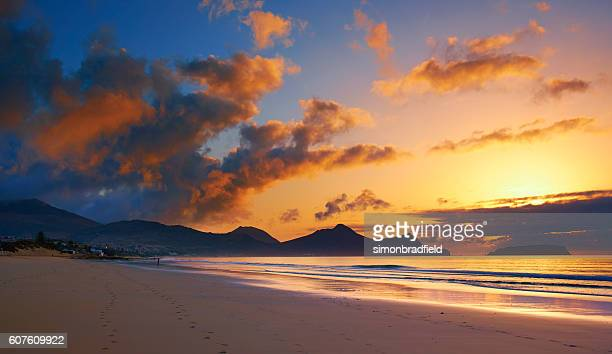 The Sun Rises On Porto Santo Beach