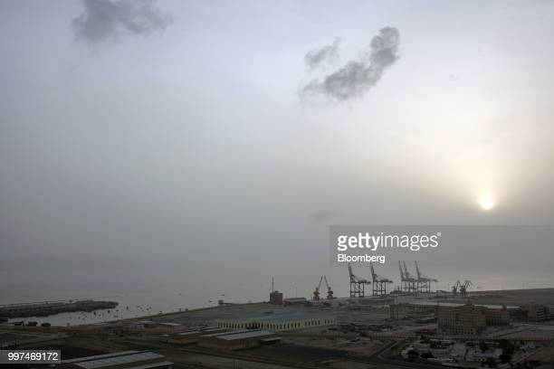 The sun rises over Gwadar Port operated by China Overseas Ports Holding Co in Gwadar Balochistan Pakistan on Tuesday July 4 2018 What used to be a...