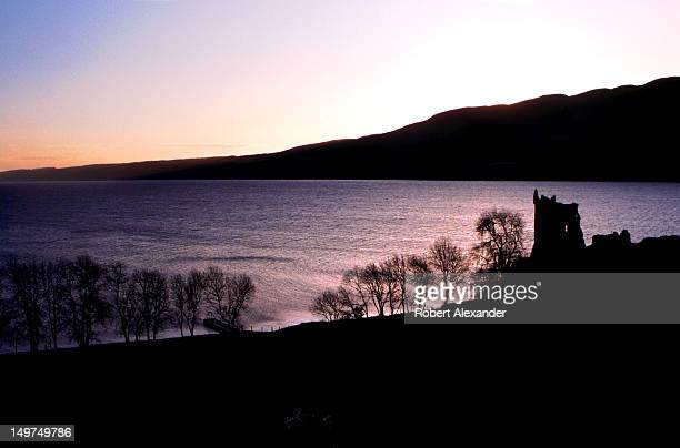 The sun rises over Loch Ness in the Scottish Highlands near Drumnadrochit. The large freshwater loch is believed by some to be the home of the Loch...