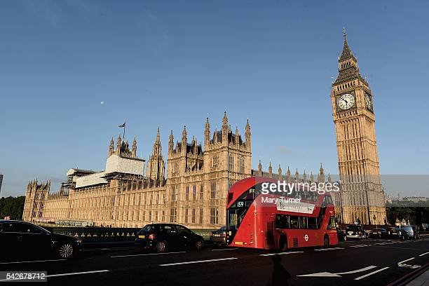 The sun rises over the Houses of Parliament following the EU referendum on June 24 2016 in London England The results from the historic EU referendum...