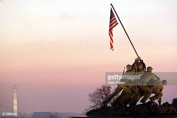 The Sun Rises Over The Iwo Jima Memorial In Arlington Virginia November 10 1999 Today Marks The 224Th Birthday Of The United States Marine Corps