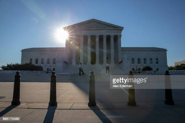 The sun rises over the United States Supreme Court on the morning of July 10 2018 in Washington DC Brett Kavanaugh President Trump's nominee to be an...