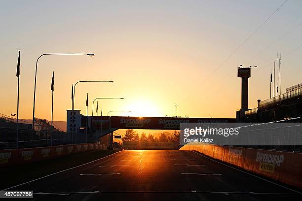 The sun rises prior to the Bathurst 1000 which is round 11 and race 30 of the V8 Supercars Championship Series at Mount Panorama on October 12 2014...