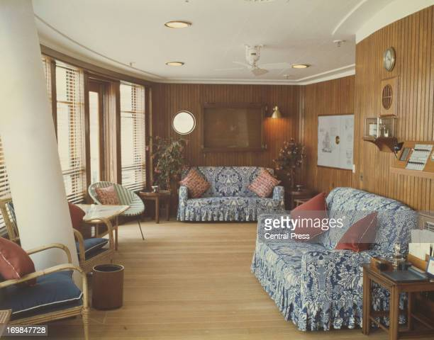 The Sun Room on the Royal Yacht Britannia 1981