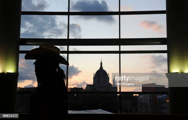 The sun set over the Cathedral of St Paul before Sen John McCain accepted the Republican nomination for president on the last night of the Republican...