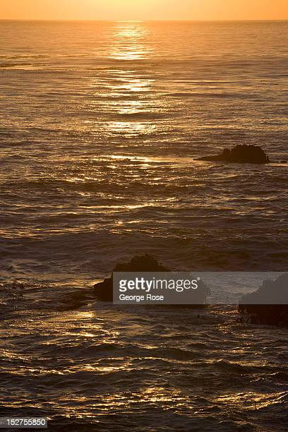 The sun sets along the rugged Pacific Ocean coastline on September 8 near Mendocino California Located a few hours north of San Francisco Mendocino...