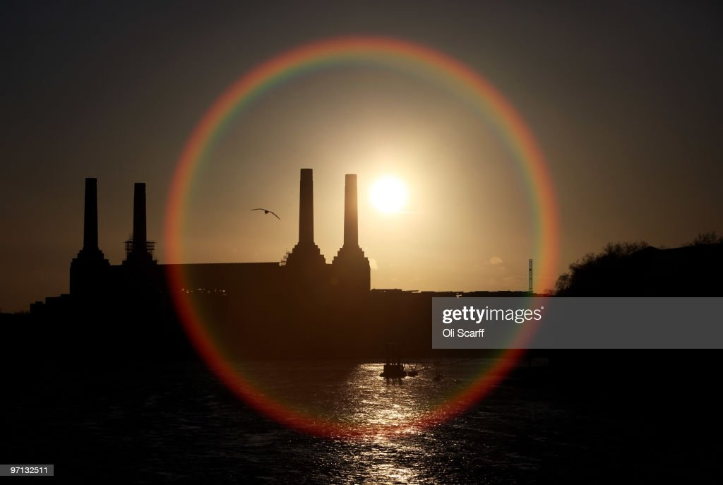 The sun sets behind the disused Battersea Power Station on February 26, 2010 in London, England. As the UK gears up for one of the most hotly contested general elections in recent history it is expected that that the economy, immigration, the NHS and education are likely to form the basis of many of the debates.