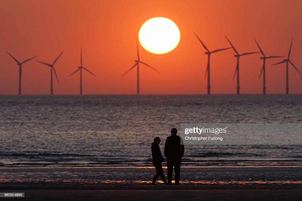 Sunset at Burbo Bank Windfarm