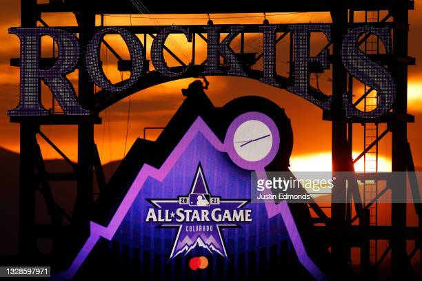 The sun sets during the 91st MLB All-Star Game at Coors Field on July 13, 2021 in Denver, Colorado.