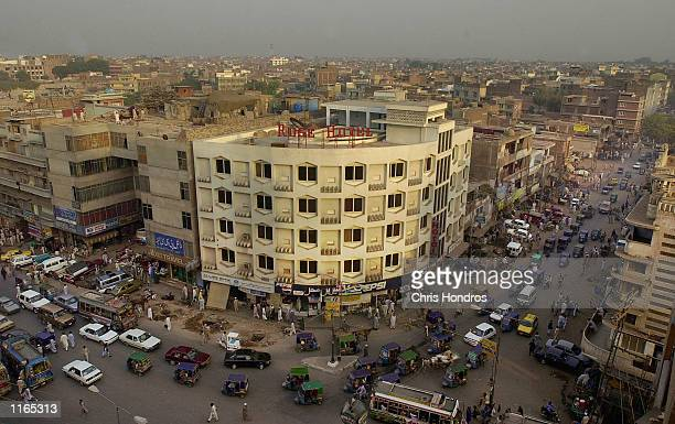The sun sets on the city of Peshawar October 1 2001 in Pakistan Peshawar has a population of nearly two million people and is one of the largest in...