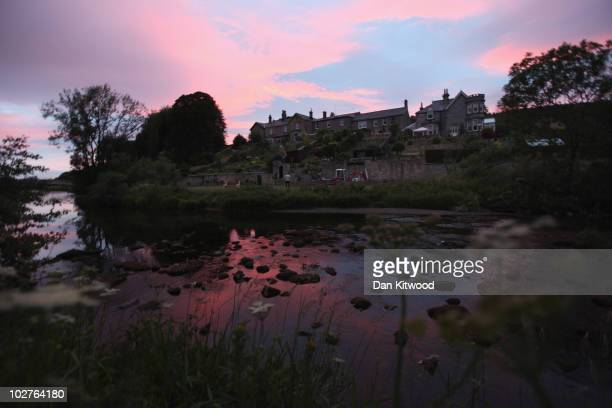 The sun sets on the village of Rothburyn as police negotiate with a man fitting the description of fugitive gunman Raoul Moat on July 9, 2010 in...