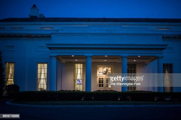 The sun sets on the West Wing of the White House in Washington DC on Monday May 15 2017