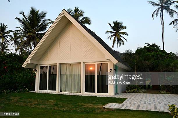 The sun sets on W Goa's Fantastic Sea Front Villa at W Goa on December 8 2016 in Goa India