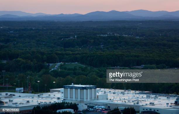 The sun sets over Liberty University in Lynchburg Va on May 3 2017