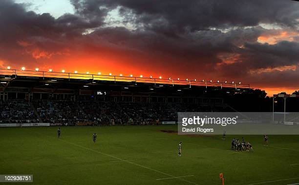 The Sun sets over the Stoop during the JP Morgan Asset Management Premiership 7's at the Stoop on July 16 2010 in Twickenham England