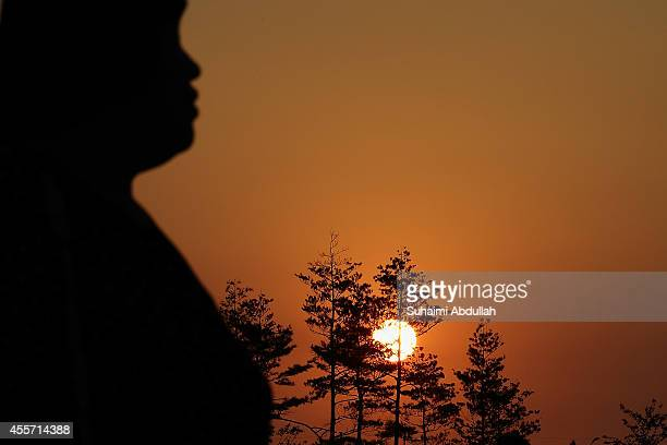 The sun sets prior to the Opening Ceremony ahead of the 2014 Asian Games at Incheon Asiad Main Stadium on September 19, 2014 in Incheon, South Korea.