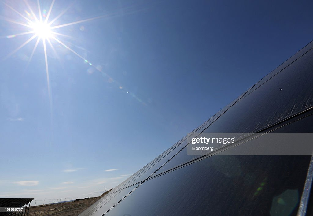 Views Of Japan Asia Group's Solar Power Plant : News Photo