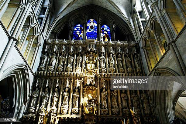 The sun shines on the altar at Southwark Cathedral August 8 2003 in London England The Church of England the mother church of the Anglican Communion...
