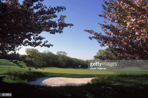 The sun shines on the fifth green of the 2002 US Open site Bethpage State Park Black Course in Farmingdale New York on May 5 2002