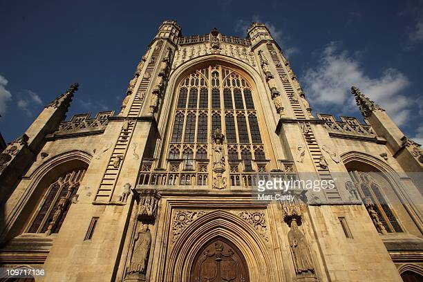 The sun shines on the historic Bath Abbey on March 2 2011 in Bath England The Somerset city of Bath was inscribed a Unesco World Heritage Site in...