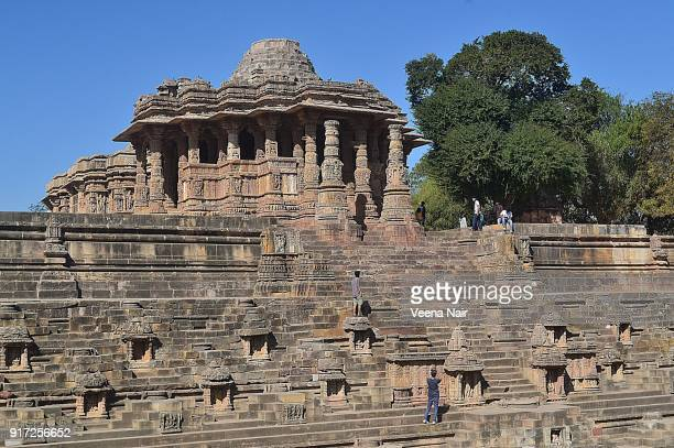 the sun temple-modhera-gujarat,india - ahmedabad stock pictures, royalty-free photos & images