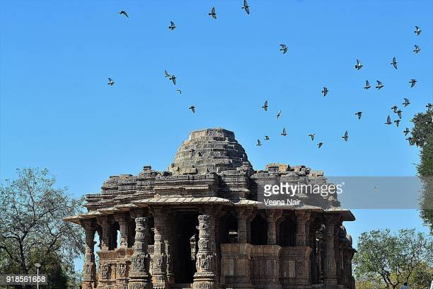 the sun temple-modhera,gujarat-india - ahmedabad stock pictures, royalty-free photos & images