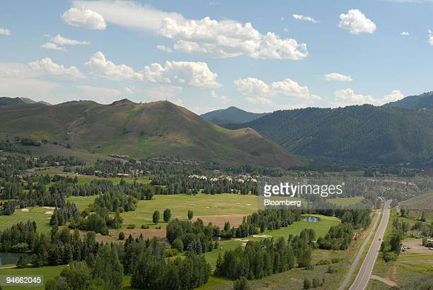 The Sun Valley resort and golf course looking back down the valley toward the town of Ketchum Idaho is seen Monday July 10 2006 Guests of the annual...