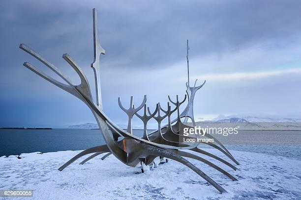 The Sun Voyager Sculpture in Reykjavik Reykjavik Iceland