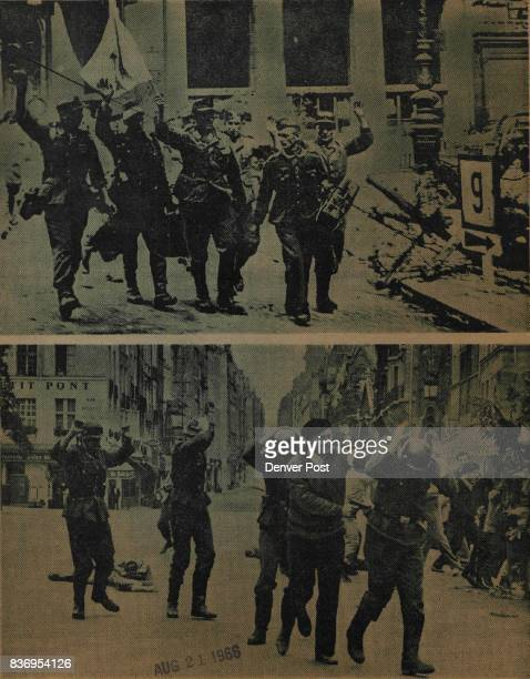 The Sunday Denver post 3 German troops surrender in the streets of Paris in August 1944 marking the end of Nazi occupation The events surrounding the...