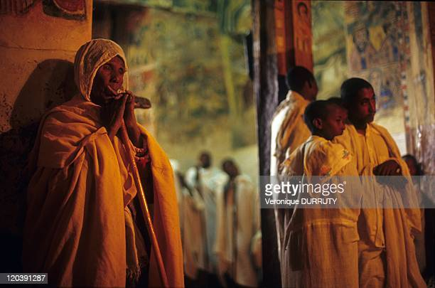 The sunday mass Abraha Atsbeha monastery in Tigray Ethiopia Abraha Atsbeha Monastery is a semi monolithic church from the 10th century situated in...