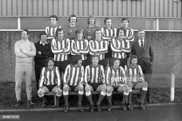 The Sunderland lineup with two new members Joe Bolton new goalkeeper Barry Siddall Jim Montgomery Mick Henderson and Gary Rowell assistant manager...