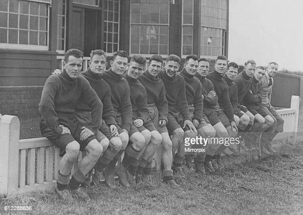 The Sunderland squad relax at their Southport Training camp ahead of the FA Cup Semi final against Birmingham City. Southport was a regular venue for...